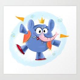 Festive elephant Art Print