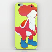 yoshi iPhone & iPod Skins featuring Yoshi Red by bloozen