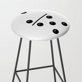 White Domino / Domino Blanco Bar Stool