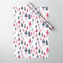 Home for the Holidays Winter Snowy Woods and Cozy Cabin Wrapping Paper