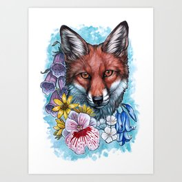 Forest Flowers Art Print