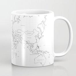Paint your World Map Coffee Mug