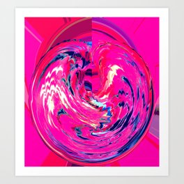 Hot Pink'ed Art Print