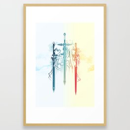 Sword Art Duo Framed Art Print