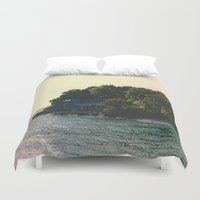 island Duvet Covers featuring Island by Lisa Goulet