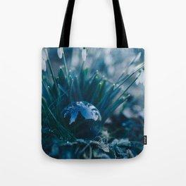 Glass Snowdrops. Tote Bag