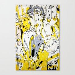 yellow people Canvas Print