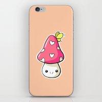 mushroom iPhone & iPod Skins featuring Mushroom by Freeminds