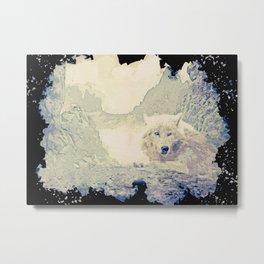 wolf canvas print Metal Print