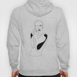 Lined pose Hoody