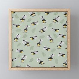 Fantail Bird Pattern Framed Mini Art Print