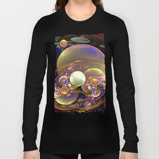 Gathering of the Planets, Fractal abstract Long Sleeve T-shirt