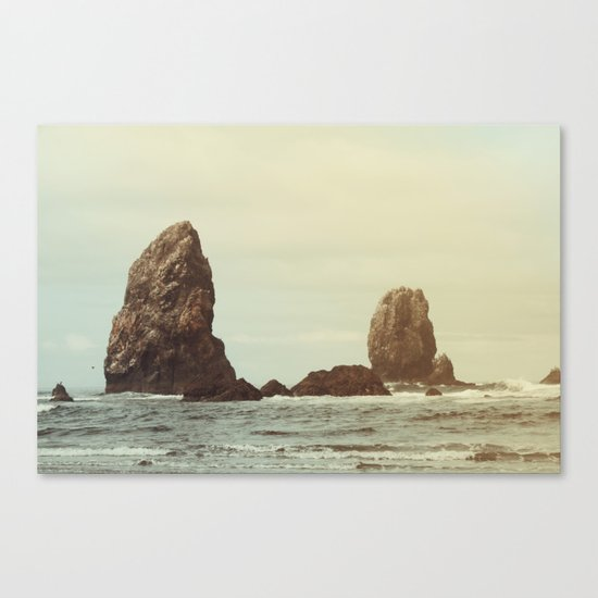 Sea Stacks (Cannon Beach, Oregon) Canvas Print