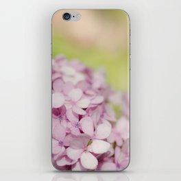 Pink Hydrangea iPhone Skin