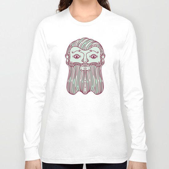 Scrunched/Bearded Face Long Sleeve T-shirt
