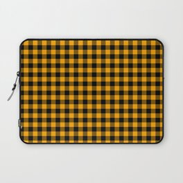 Classic Orange Country Cottage Summer Buffalo Plaid Laptop Sleeve