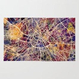 Manchester England Street Map Rug