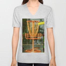 Disc Golf Basket Beer Innova Discraft Vibram Most fun Unisex V-Neck