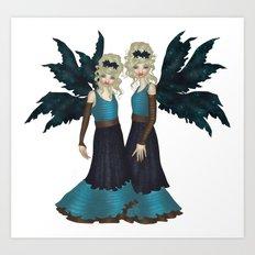 Rose Sisters Art Print