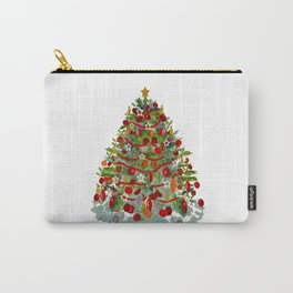 A Decorated Christmas Tree Carry-All Pouch