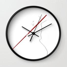 Javelin thrower.Sport tshirt  Wall Clock