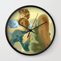 les mis Wall Clocks featuring Sleepy Les Miserables by Pruoviare