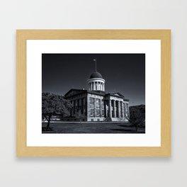 Old Illinois Capitol Building - B&W Framed Art Print