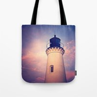 lighthouse Tote Bags featuring Lighthouse by JMcCool