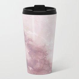 Pastel pink burgundy elegant abstract marble pattern Travel Mug