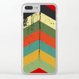 Grunge chevron Clear iPhone Case