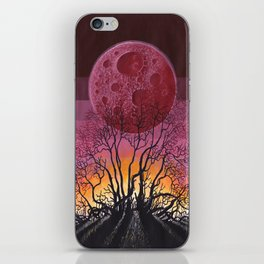 Red Moon Landscape iPhone Skin