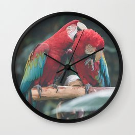 Morning Birbs Wall Clock