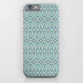 Ikat Teardrops in Sea Foam, Teal, Gray iPhone Case