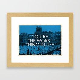 the worst Framed Art Print