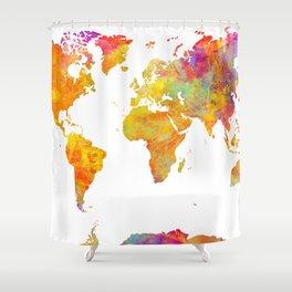 world map 23 Shower Curtain