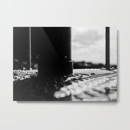 Black and white urban abstract Metal Print