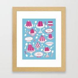 Would You Like Some Dessert (in Blue)? Framed Art Print
