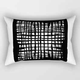 black and white screen Rectangular Pillow