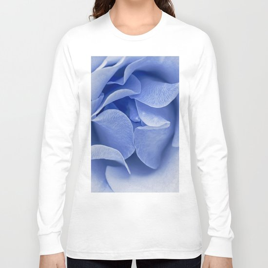 Blue flora Rose Bud- Roses and flowers Long Sleeve T-shirt