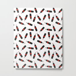 COLA FAST FOOD SODA DRINK PATTERN Metal Print
