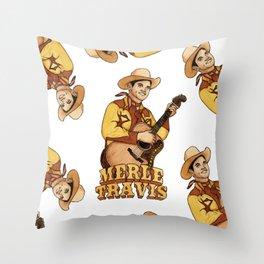 Merle Travis Throw Pillow