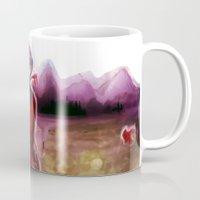 dmmd Mugs featuring dmmd beach by Mottinthepot