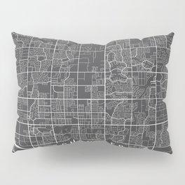 Chandler Map, Arizona USA - Charcoal Portrait Pillow Sham