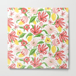 Island Garden Floral Metal Print