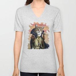 Sorcerer Cat Unisex V-Neck