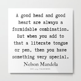 4 | Nelson Mandela  Quotes | 190818 Metal Print