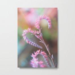 Flowered Antennae Metal Print