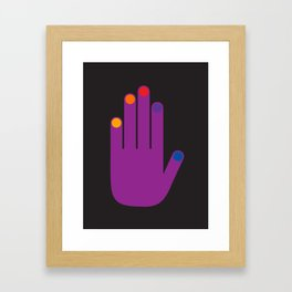 Purple Pop Hand Framed Art Print