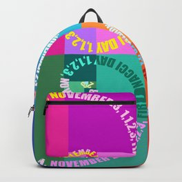 Fibonacci Day, Typographic Backpack