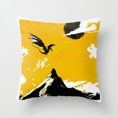 There and Back Again Throw Pillow